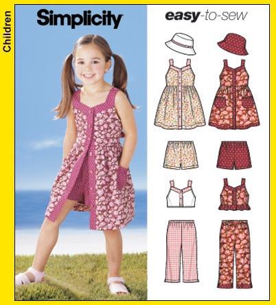 Simplicity 5540 Child\'s Dress