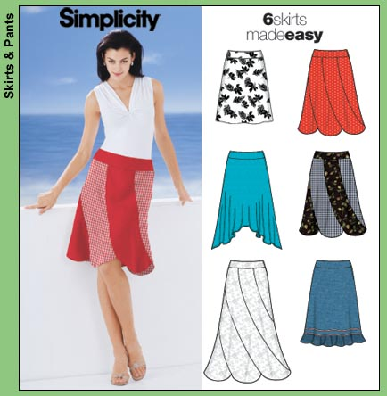 Simplicity 5564 Six Skirts Made Easy