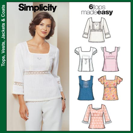 Simplicity 5683 6 tops made easy