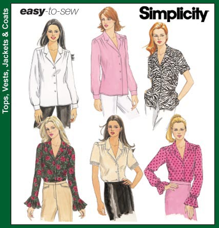 Simplicity 5801 Blouses (Easy to Sew)