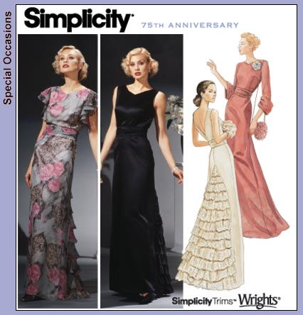 Simplicity Patterns Formal Dress