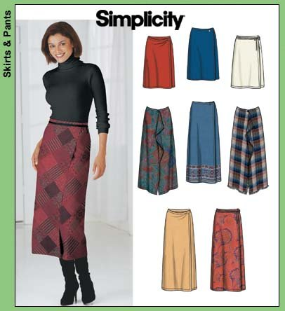 Simplicity 7015 One piece wrap skirt