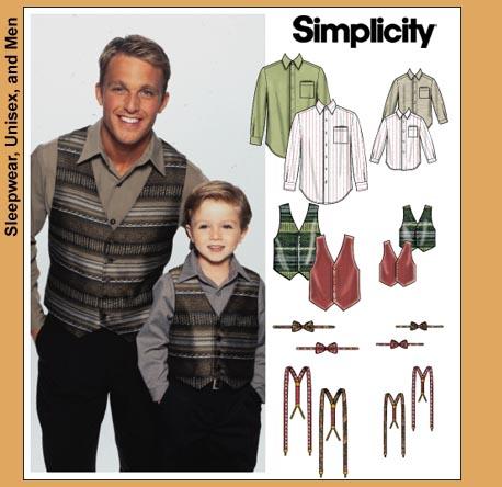 Simplicity 7030 Men Amp Boys Shirts Ties Vests