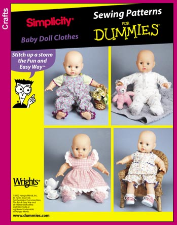 Simplicity 7071 Sewing For Dummies Dollclothes