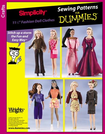 Simplicity 7073 Sewing For Dummies Doll Clothe