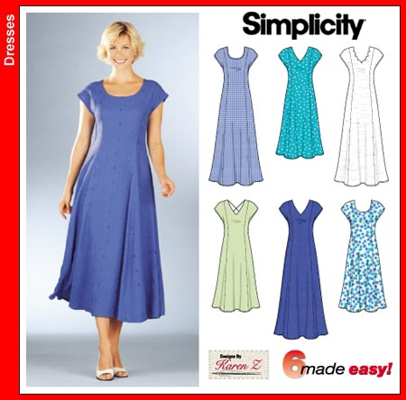 Simplicity 40 Princess Line Dress New A Line Dress Pattern