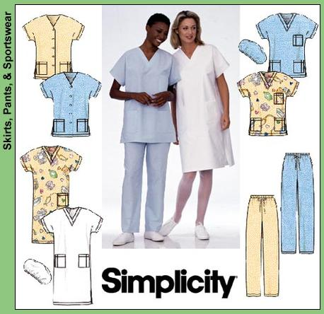 Simplicity 40 Misses Scrub Tops Pants Hat Mesmerizing Scrub Top Patterns