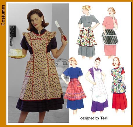 Simplicity 40 Retro Aprons Unique Simplicity Apron Patterns