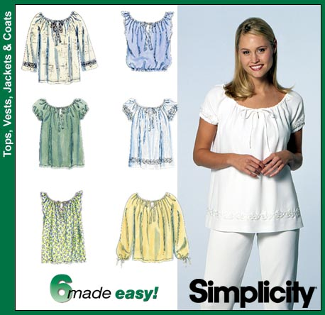 Simplicity 8741 peasant-style blouse
