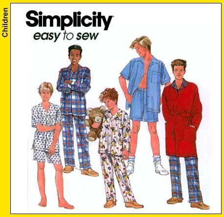 Simplicity 8968 Boys Pajamas