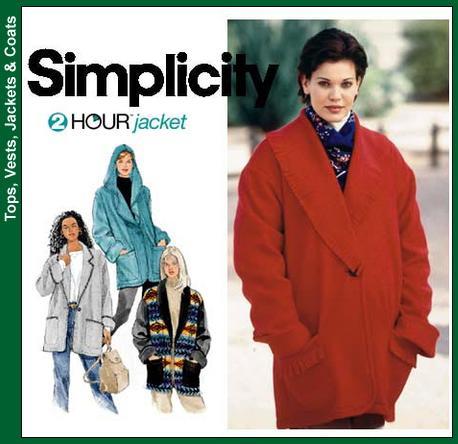 Simplicity 9744 Fleece jacket