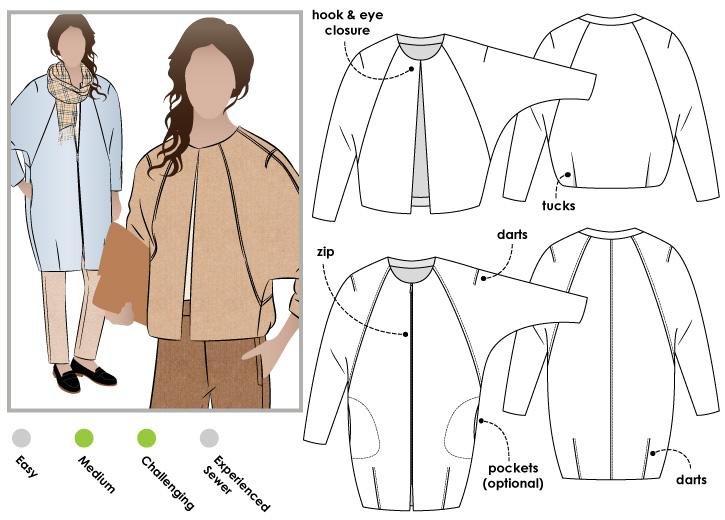StyleArc Alegra Jacket Coat Adorable Coat Pattern