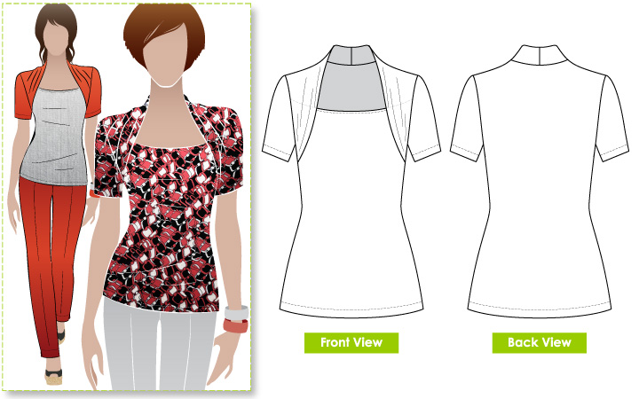 StyleArc Belinda Jersey Top Mesmerizing Pattern Review