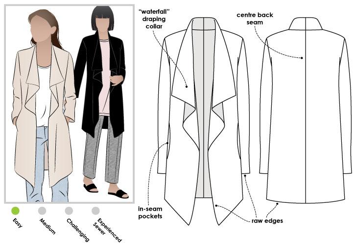 StyleArc Estelle Ponte Jacket