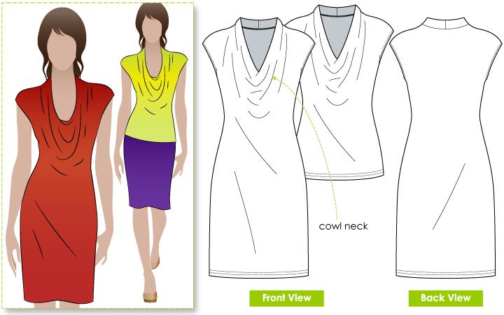 Cowl back dress sewing pattern wedding dress for Cowl neck wedding dress pattern