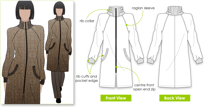 StyleArc Jacqui Coat Best Coat Pattern