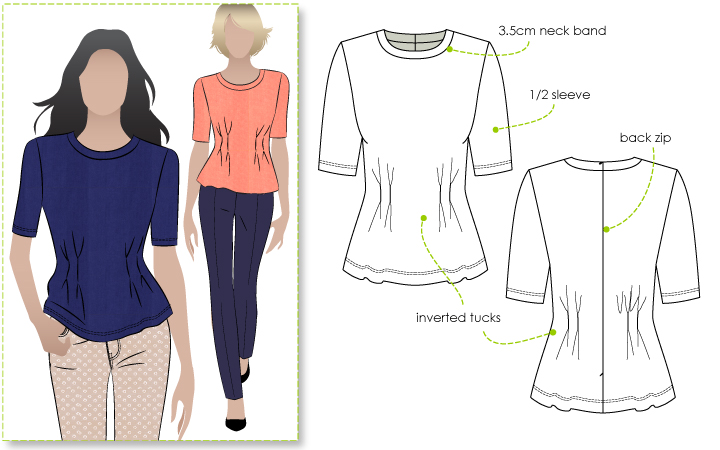 StyleArc Lana Knit Peplum Top