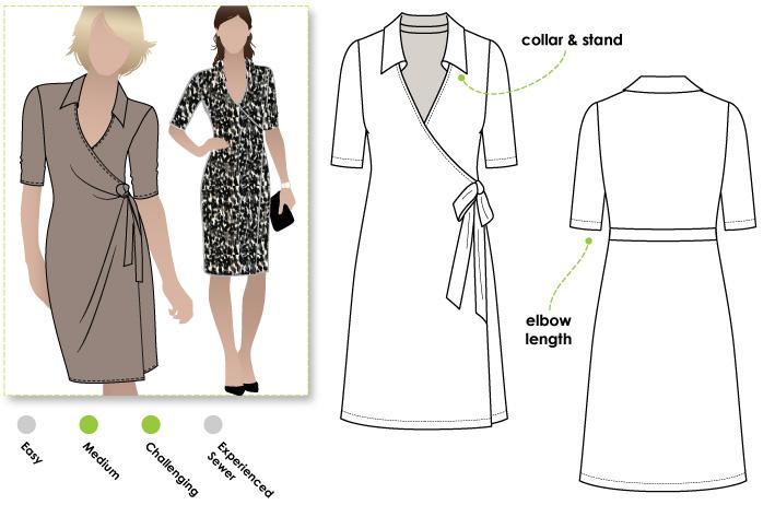 StyleArc Lea knit wrap dress