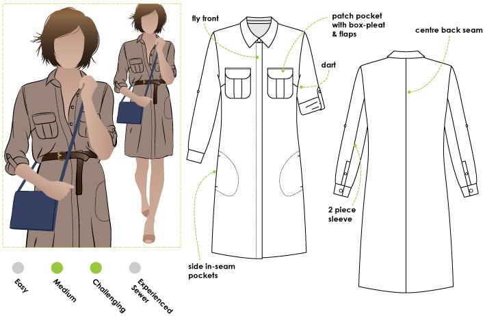 StyleArc Mara Shirt Dress