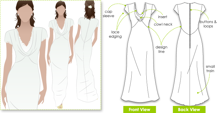 Stylearc pippa 39 s dress for How to make a wedding dress pattern