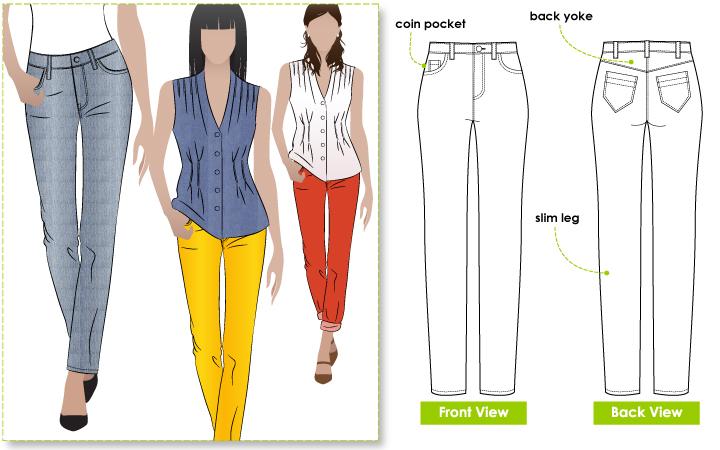 StyleArc Sandra Narrow Leg Jean