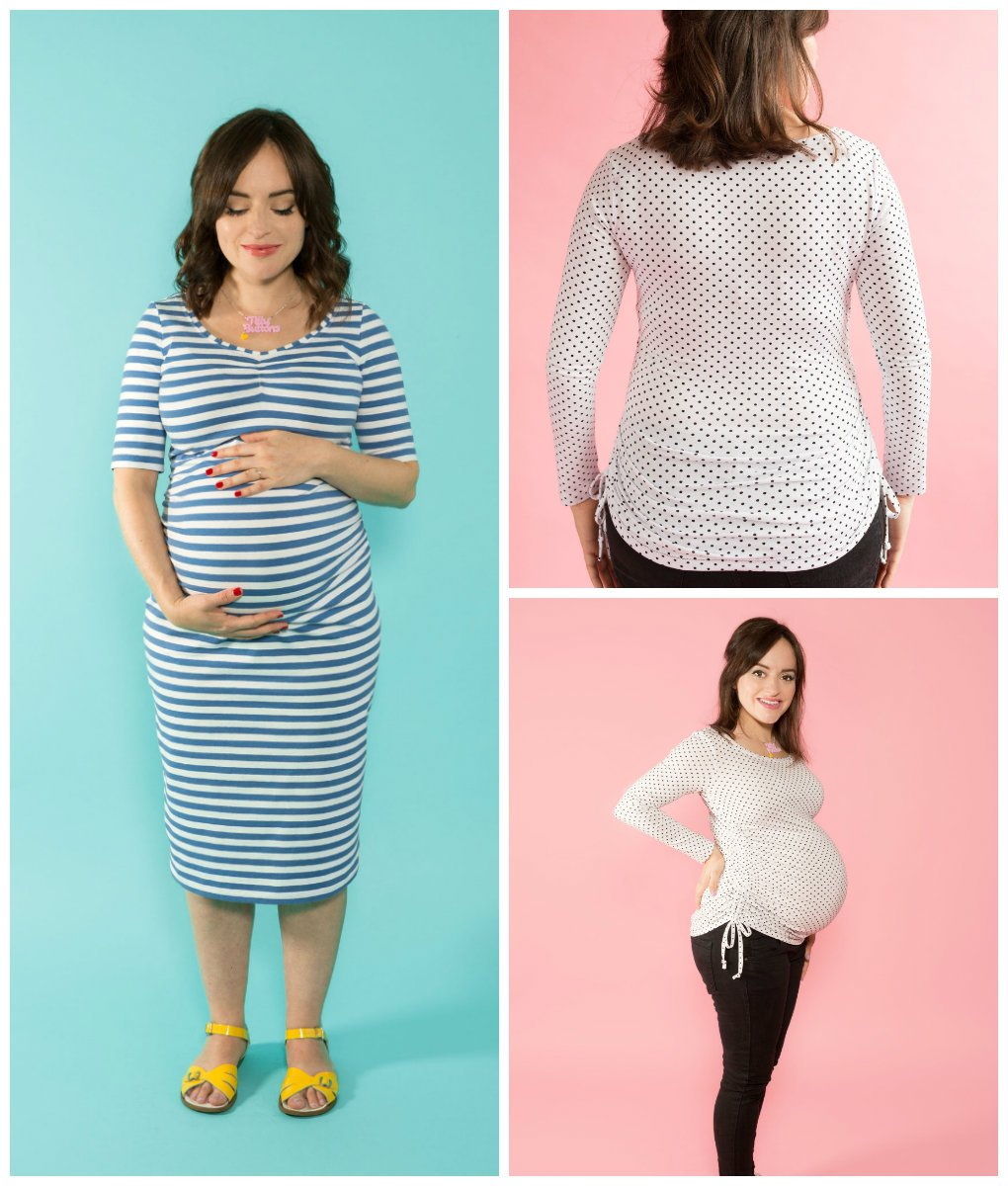 Tilly and the Buttons 1017D MATERNITY AGNES TOP + DRESS Downloadable ...