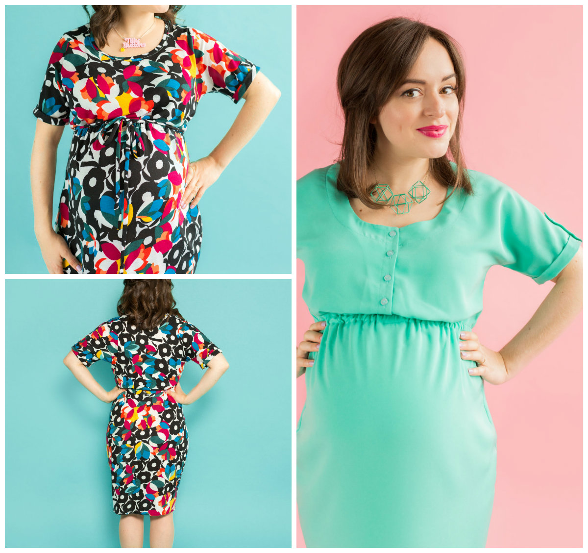 c10ee2744ba53 Tilly and the Buttons 1018D MATERNITY + NURSING BETTINE DRESS
