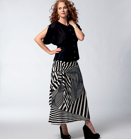 Vogue Patterns 1333 Misses' Blouse and Skirt