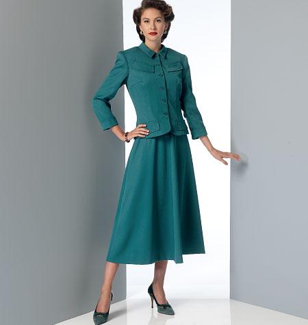 Vogue Patterns 9052 Misses' Jacket, Dress and Belt