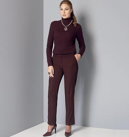 4-6-8-10-12 Vogue Patterns 9155 AX5 Misses Petite Pants,Sizes 4-12,