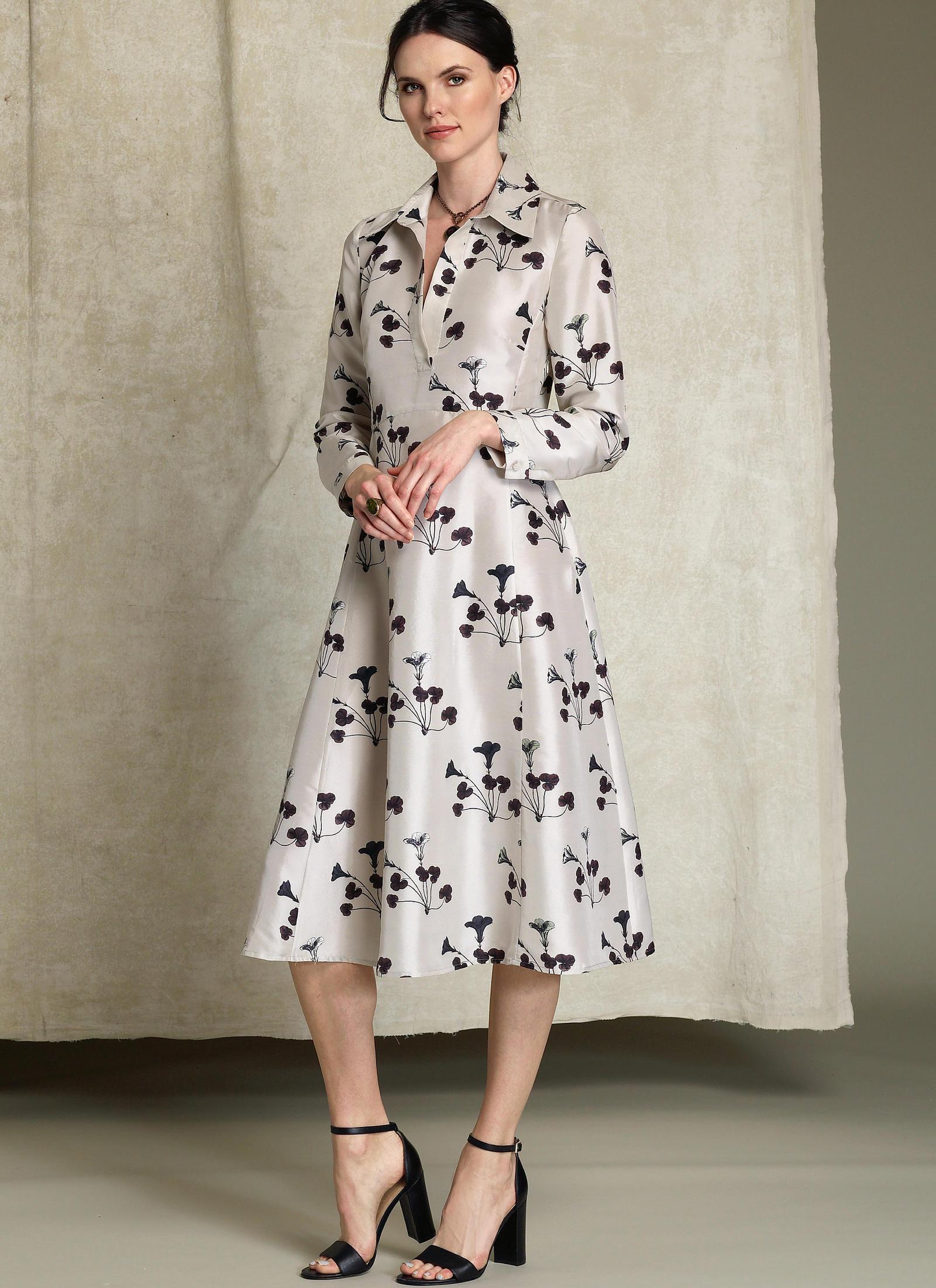 Vogue Patterns 1511 MISSES' HALF-PLACKET, LONG SLEEVE