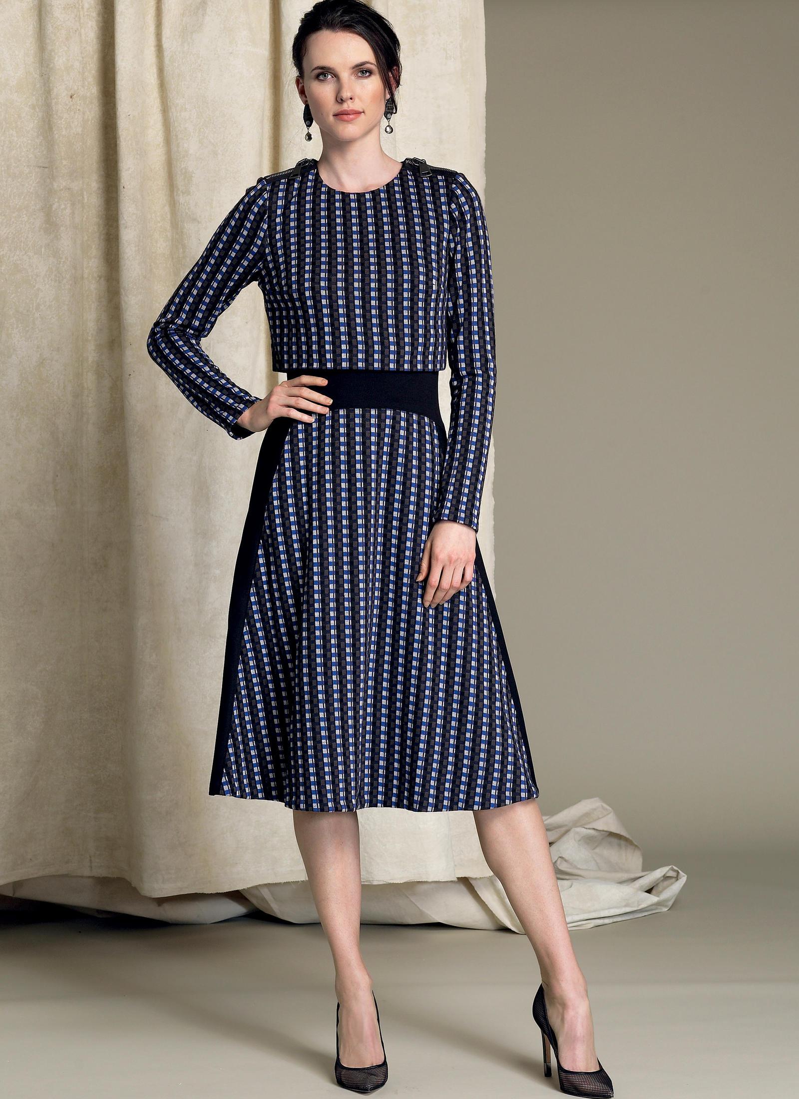 Dorable Midi Dress Sewing Pattern Sketch - Blanket Knitting Pattern ...