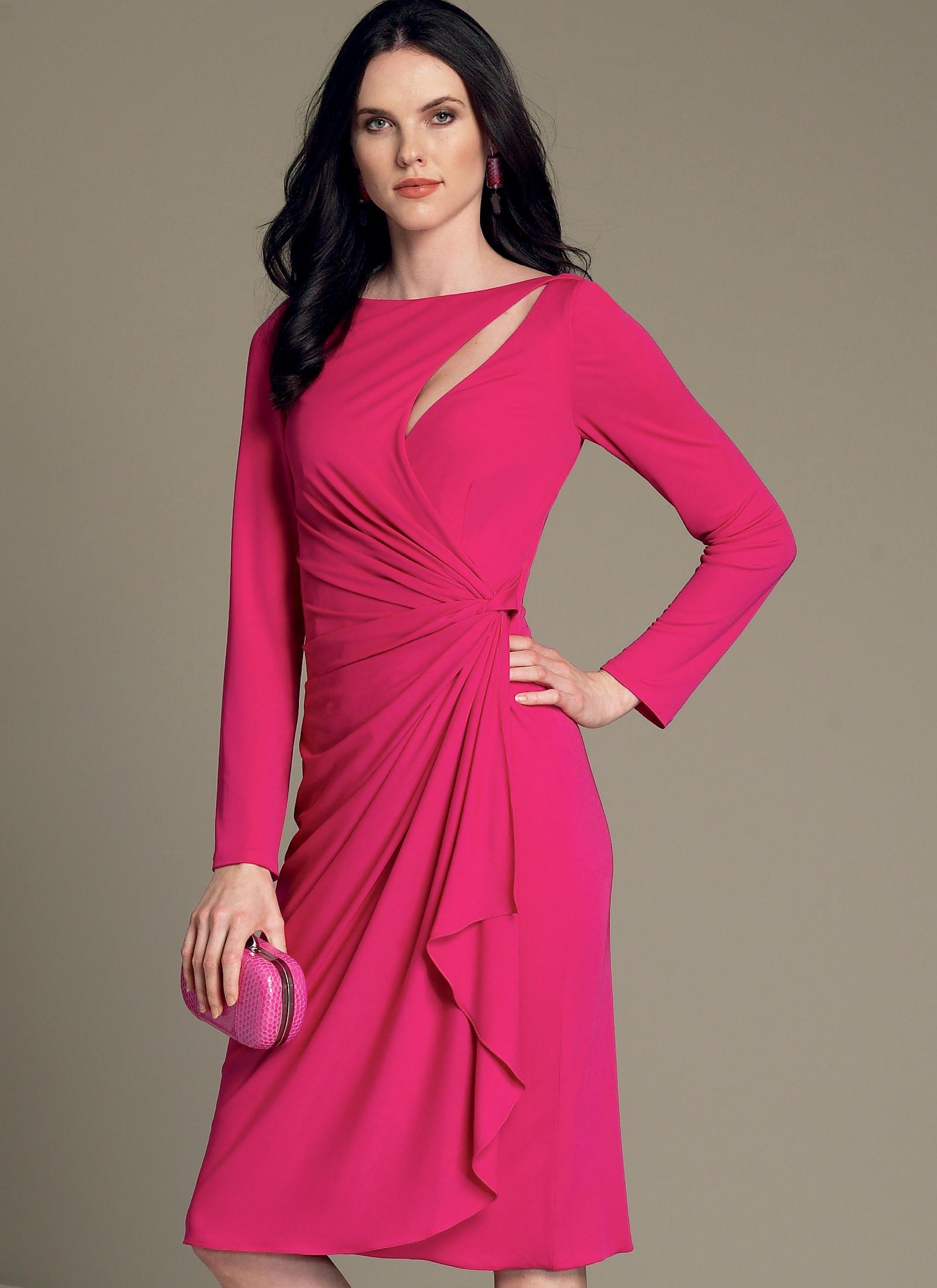 Vogue Patterns 1514 MISSES' MOCK-WRAP CUTOUT DRESS