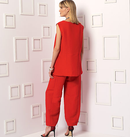 Vogue Patterns 9193 Misses Sleeveless Or Dolman Sleeve Tunics And