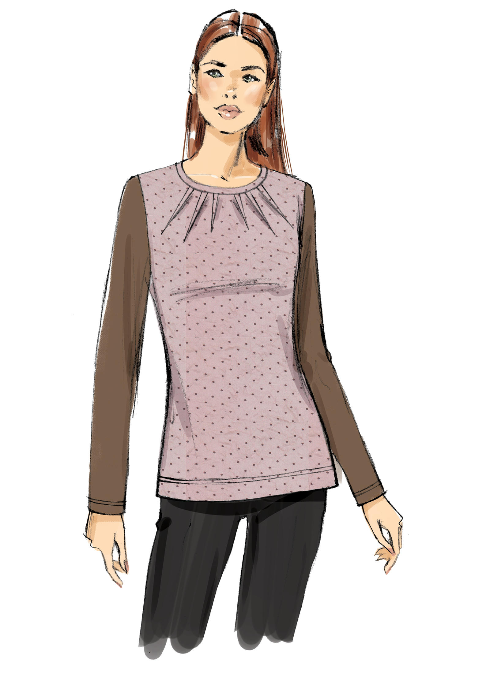 Vogue Patterns 9205 MISSES\' KNIT TOPS WITH INVERTED NECK DARTS