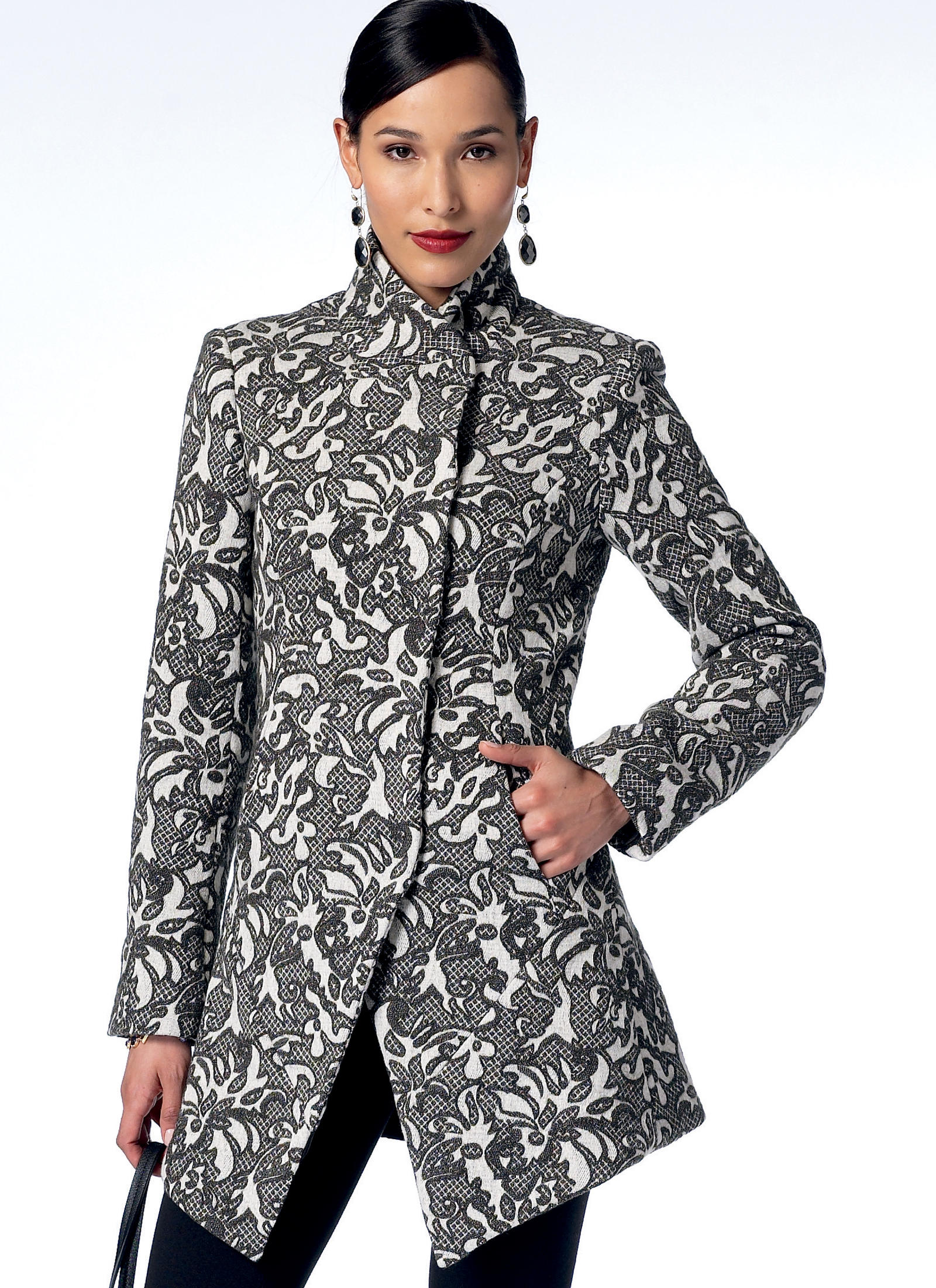 Vogue Patterns 9212 MISSES' SEAMED AND COLLARED JACKETS