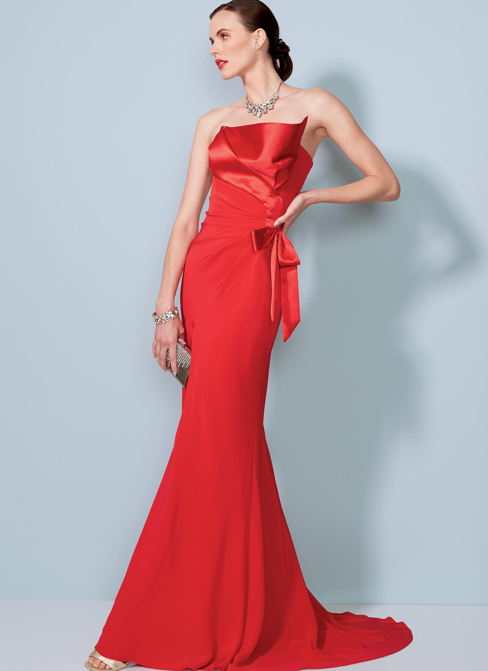 Vogue Patterns 1533 Misses Strapless Front Drape Dress