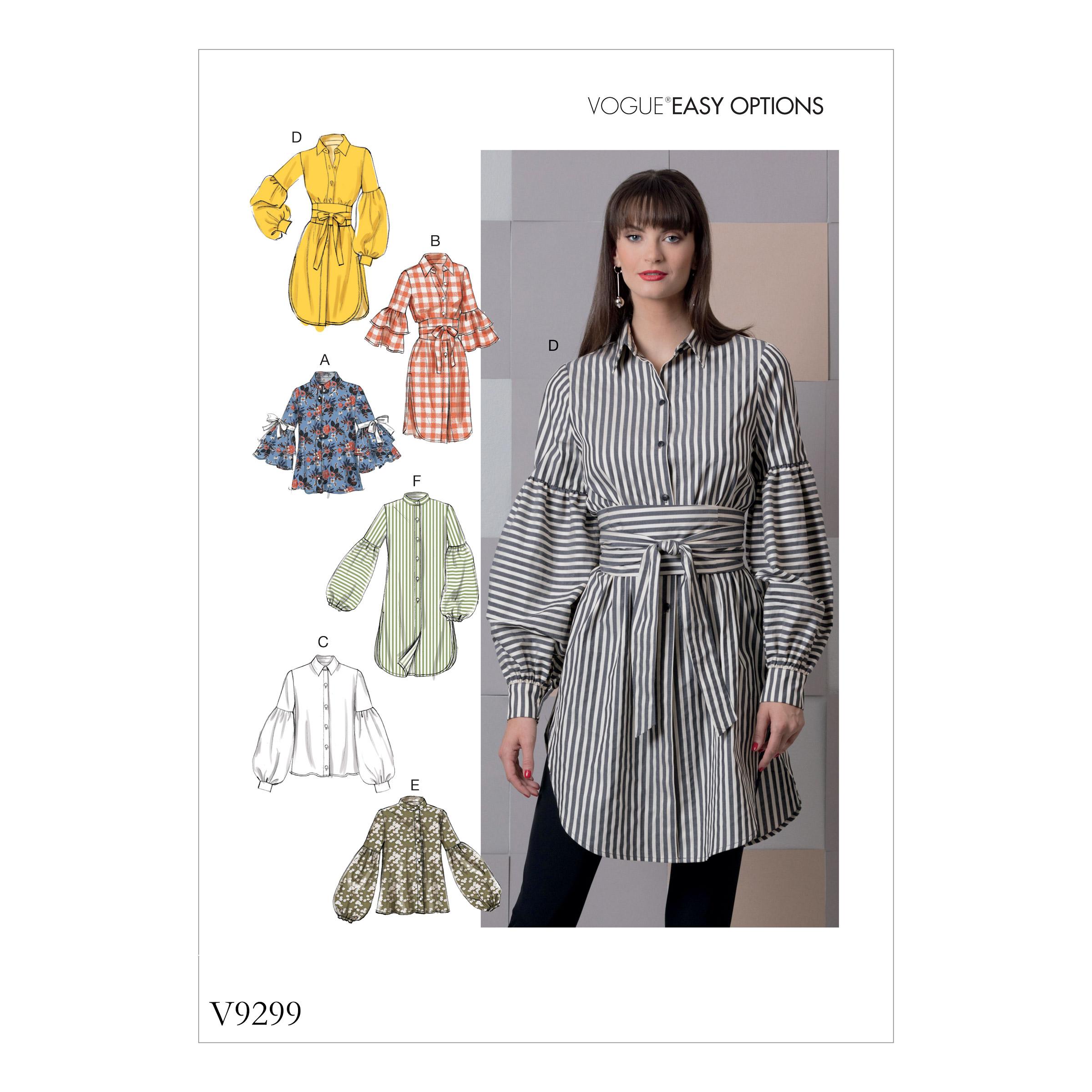 c94414aae7 Vogue Patterns 9299 MISSES' TOP AND BELT