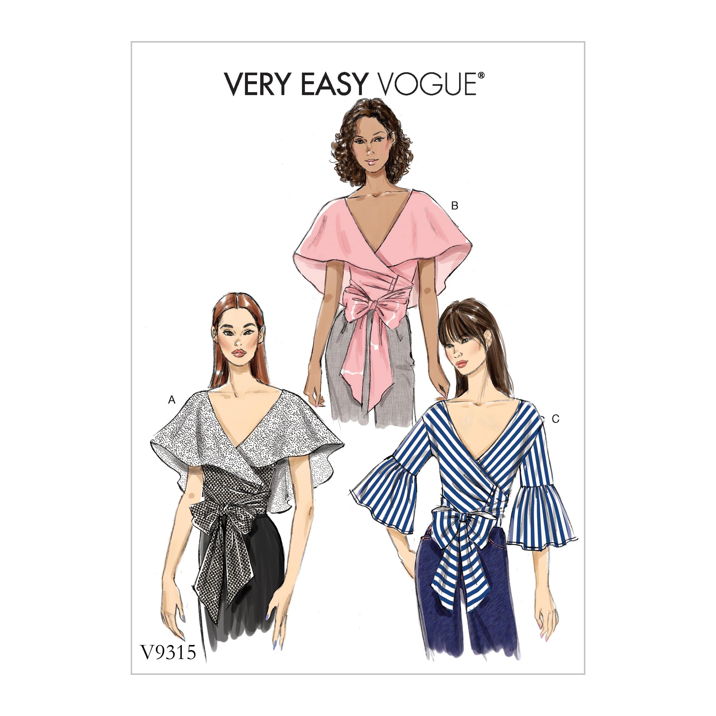 0377156218 Vogue Patterns 9315 MISSES' TOP