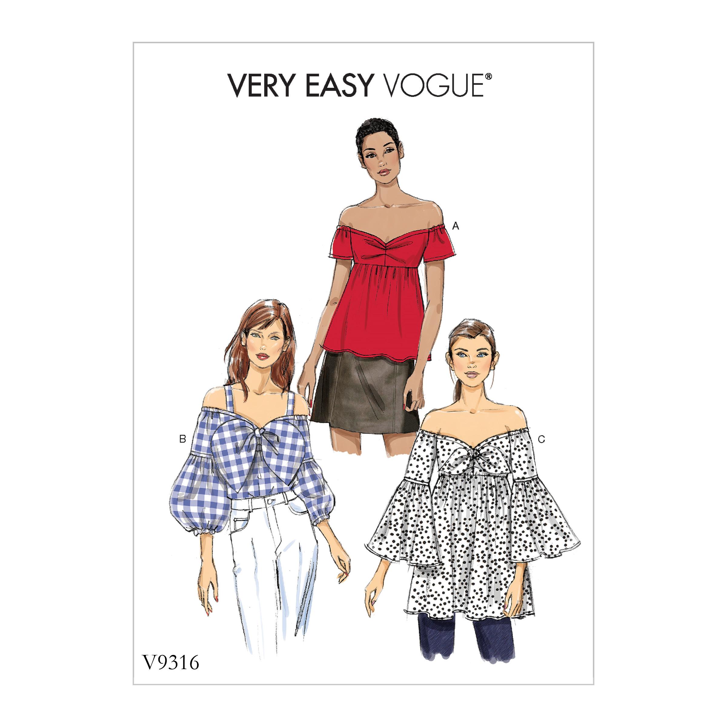 61e961a71b Vogue Patterns 9316 MISSES' TOP