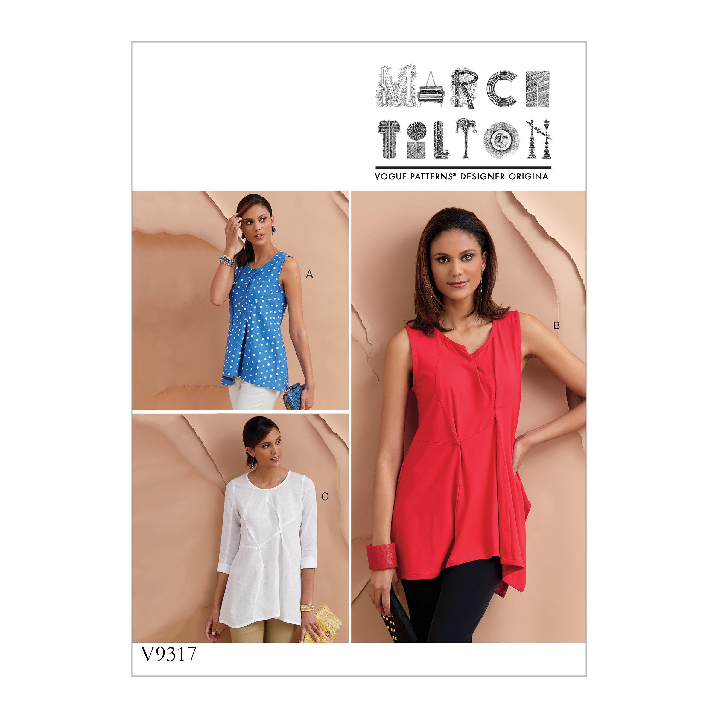 7df975a8f4 Vogue Patterns 9317 MISSES' TOP