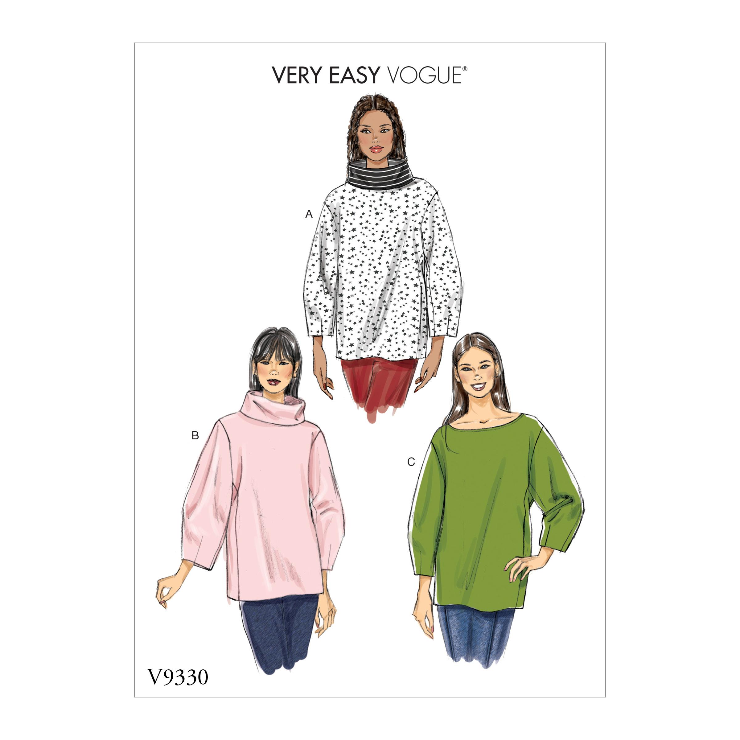 54ac449e61 Vogue Patterns 9330 MISSES' TOP