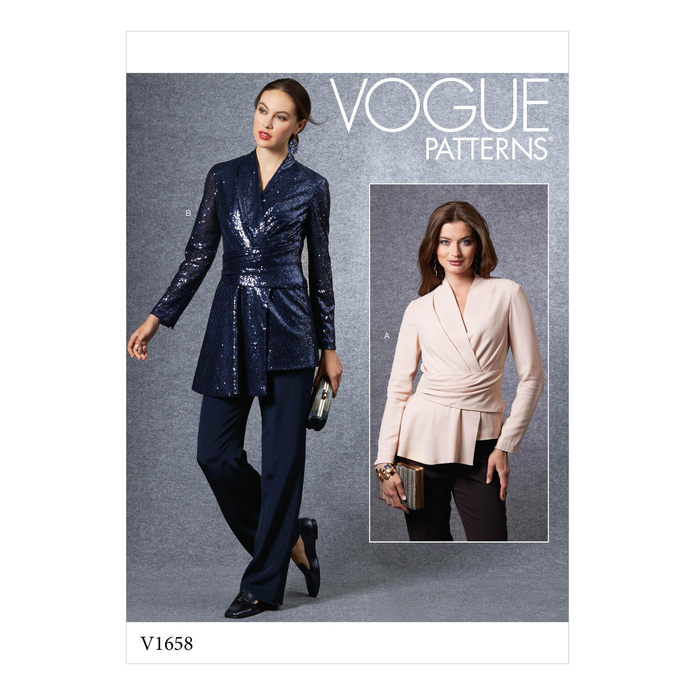 Vogue Patterns 12 MISSES' TOP