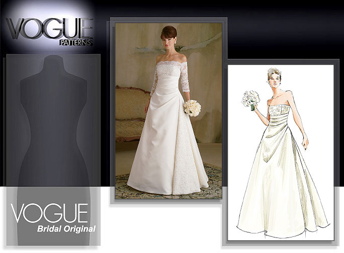 Vogue patterns 2842 misses 39 dress for How to make a wedding dress pattern
