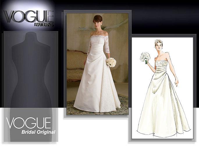 Vogue patterns 2842 misses 39 dress for Wedding dress patterns online