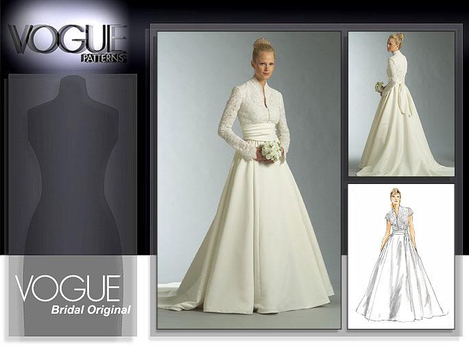 Vogue patterns 2979 misses 39 misses 39 petite dress and sash for Wedding dress patterns online