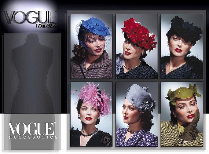 Vogue Patterns 7325 Vintage Hats