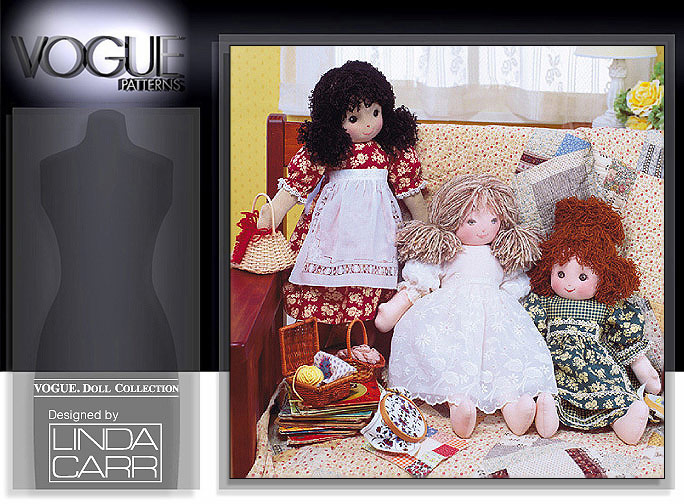 Vogue Patterns 7418 Rag Doll & Clothes