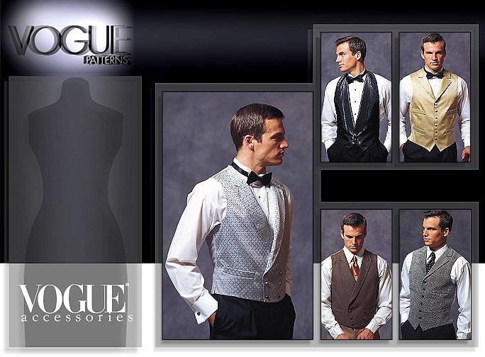 Vogue Patterns 7488 Men\'s Vests