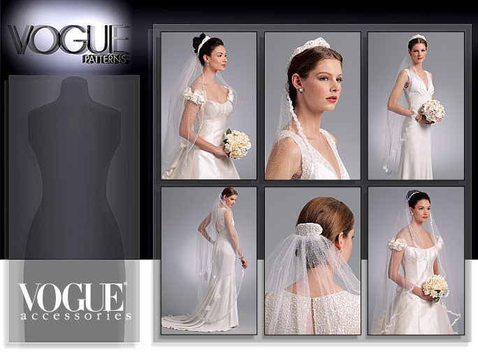 Vogue Patterns 8569 HEADPIECES, TIARA AND BRIDAL VEILS